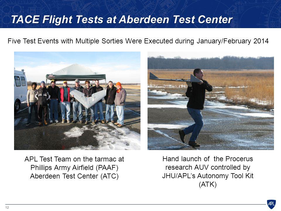 TACE Flight Tests at Aberdeen Test Center
