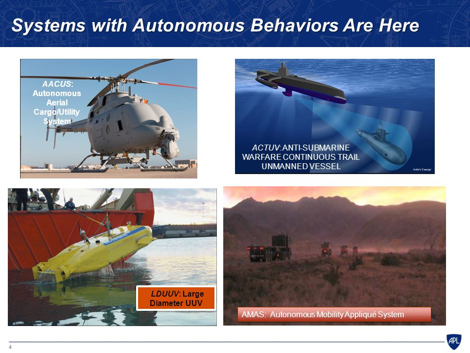 Systems with Autonomous Behaviors Are Here