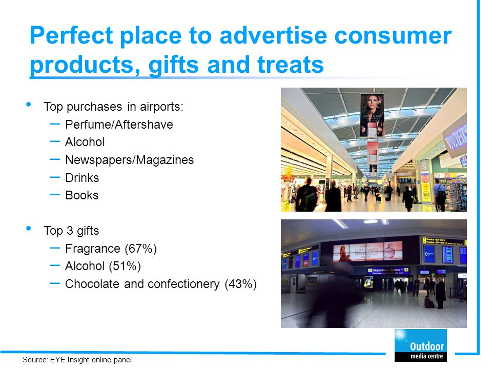 Perfect place to advertise consumer products, gifts and treats