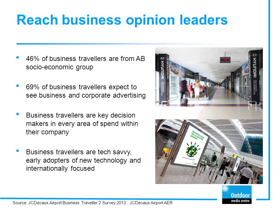 Reach business opinion leaders