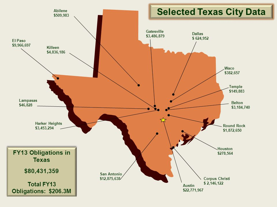 Selected Texas City Data