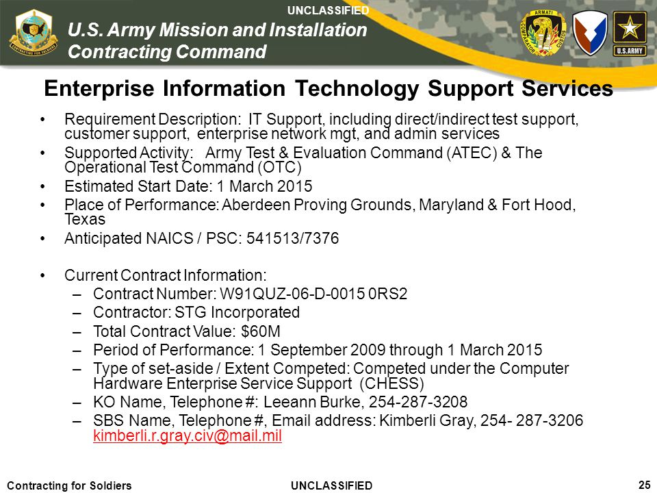 Enterprise Information Technology Support Services