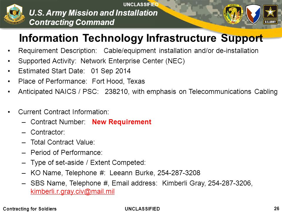 Information Technology Infrastructure Support