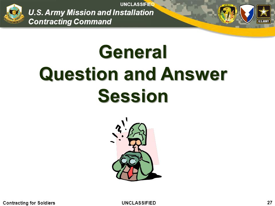 General Question and Answer Session