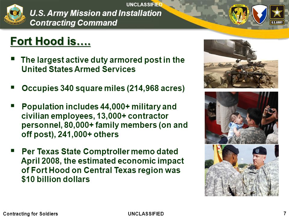 Fort Hood is…. The largest active duty armored post in the
