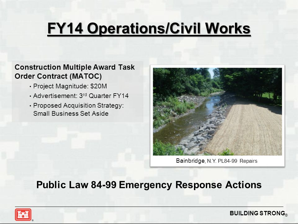 FY14 Operations/Civil Works