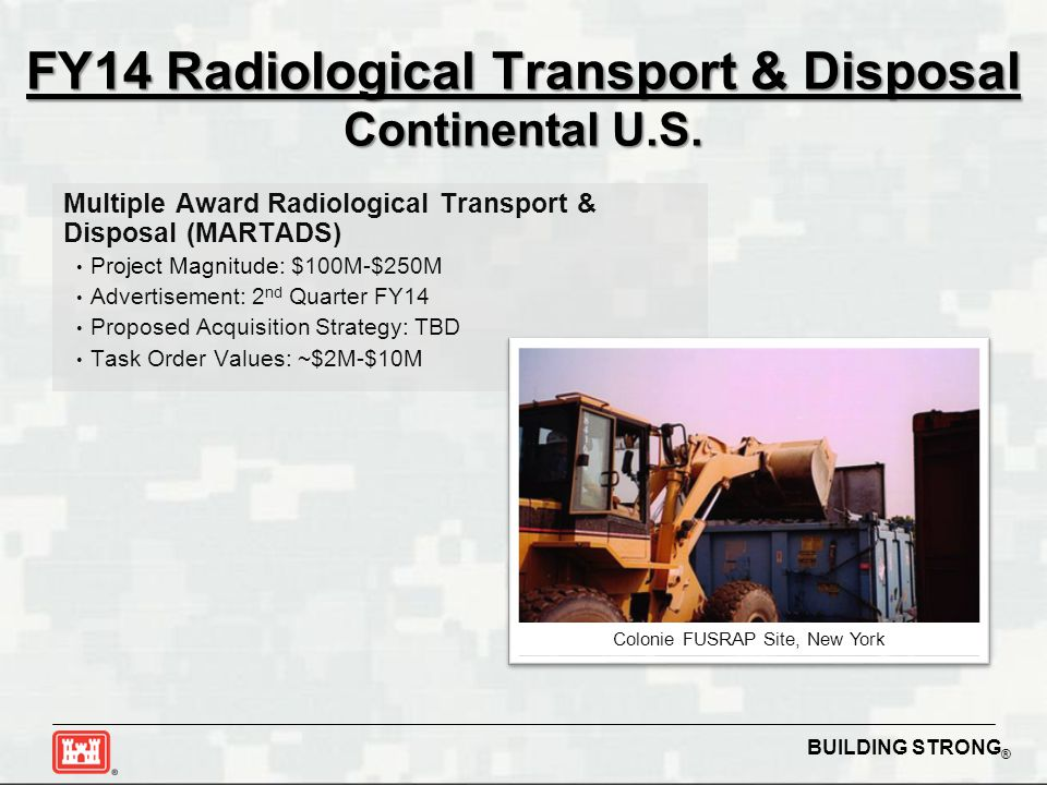 FY14 Radiological Transport & Disposal Continental U.S.