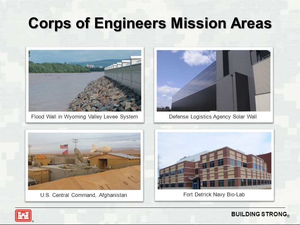 Corps of Engineers Mission Areas