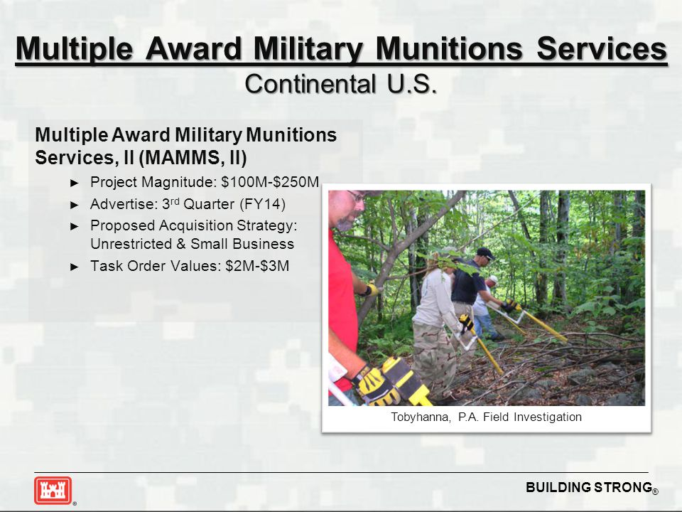 Multiple Award Military Munitions Services Continental U.S.