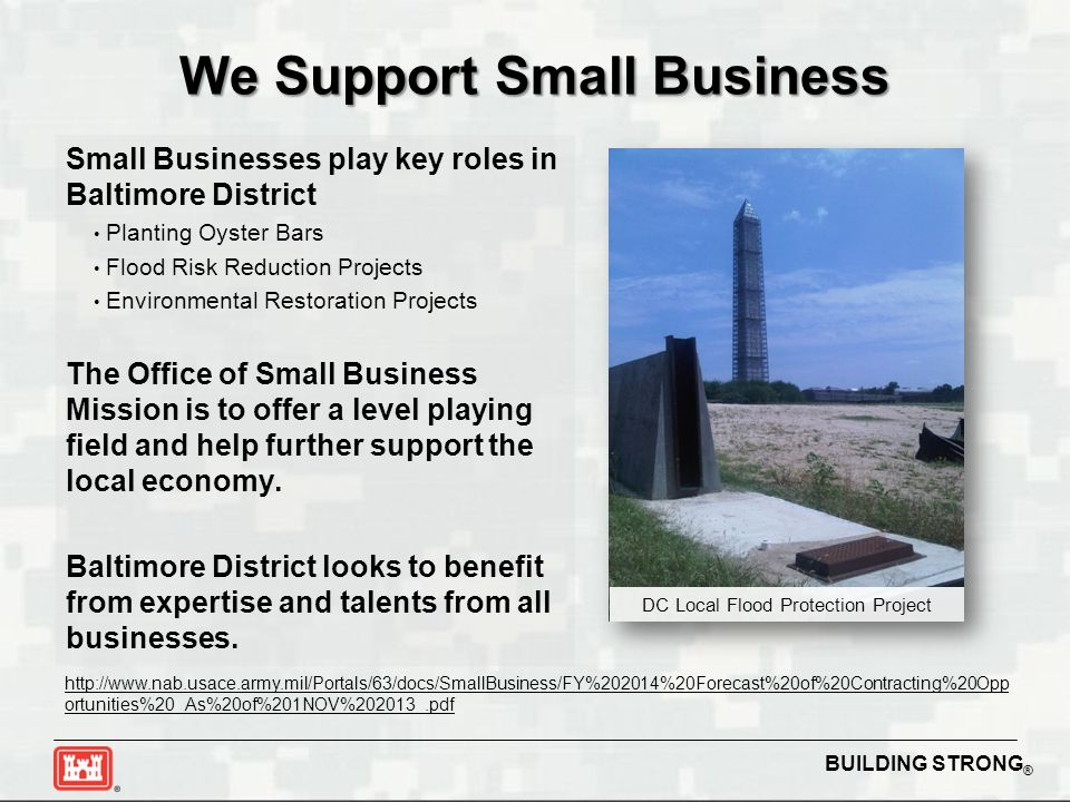 We Support Small Business