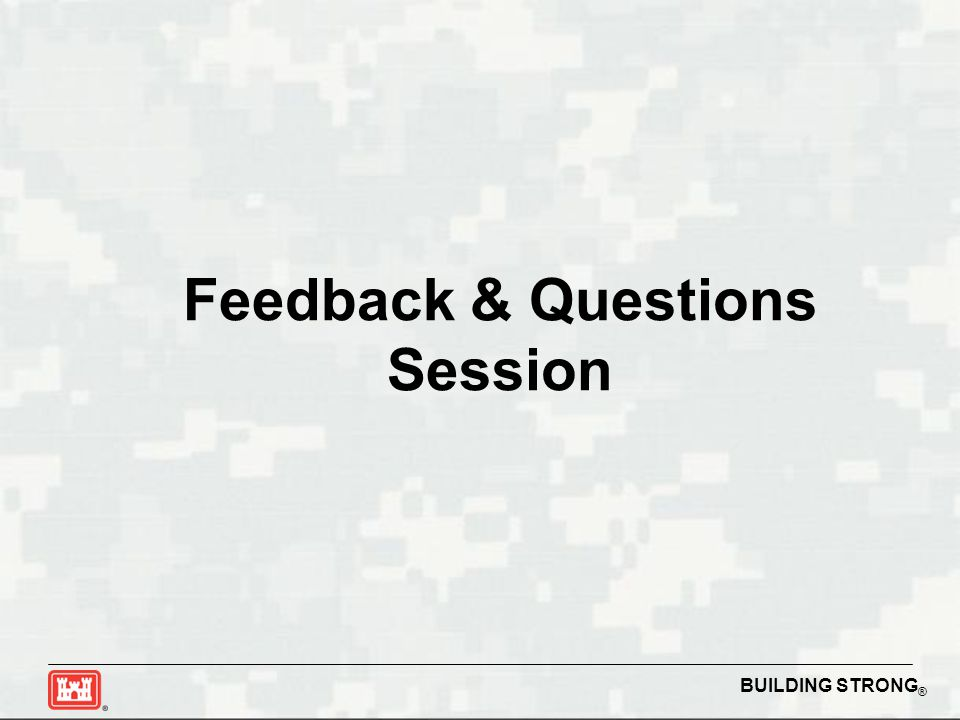 Feedback & Questions Session