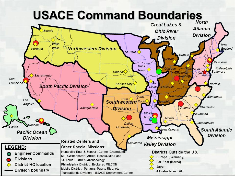 USACE Command Boundaries