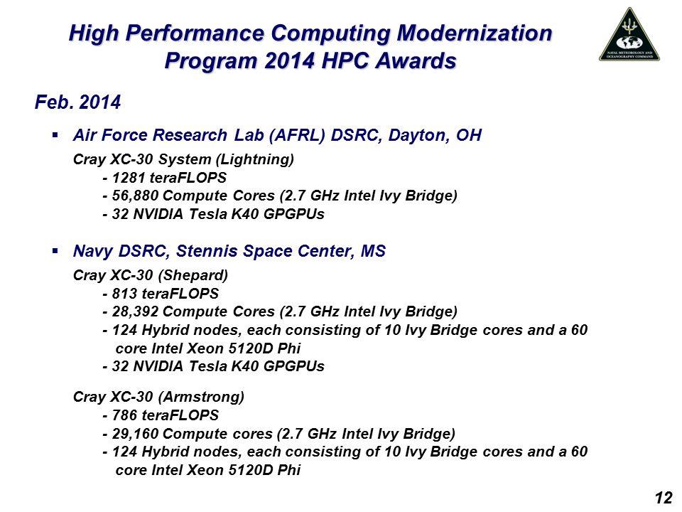 High Performance Computing Modernization Program 2014 HPC Awards