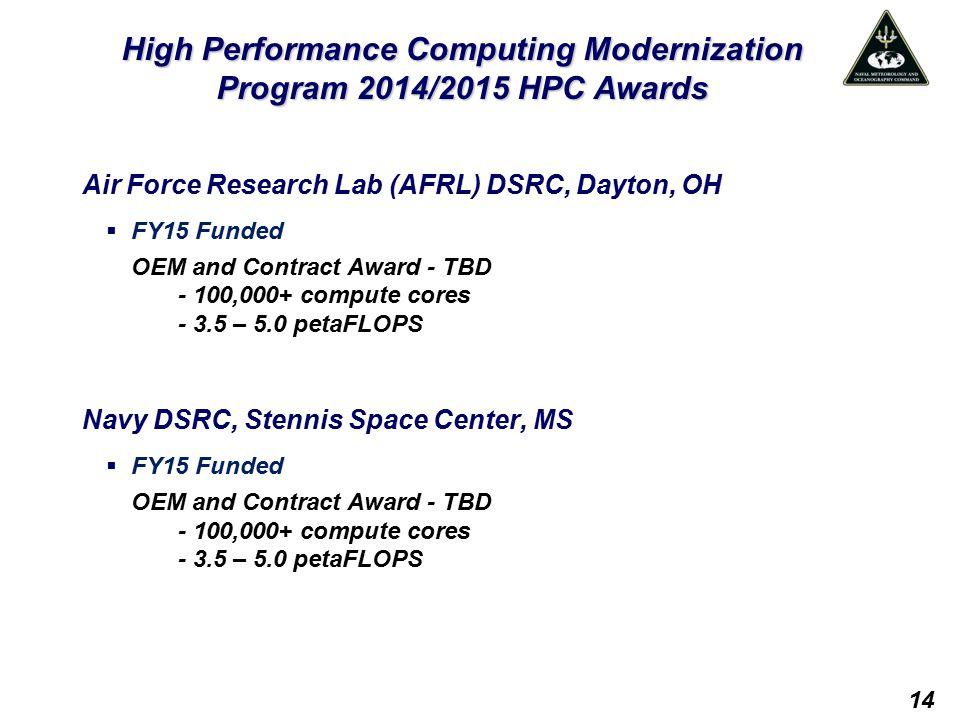 High Performance Computing Modernization Program 2014/2015 HPC Awards