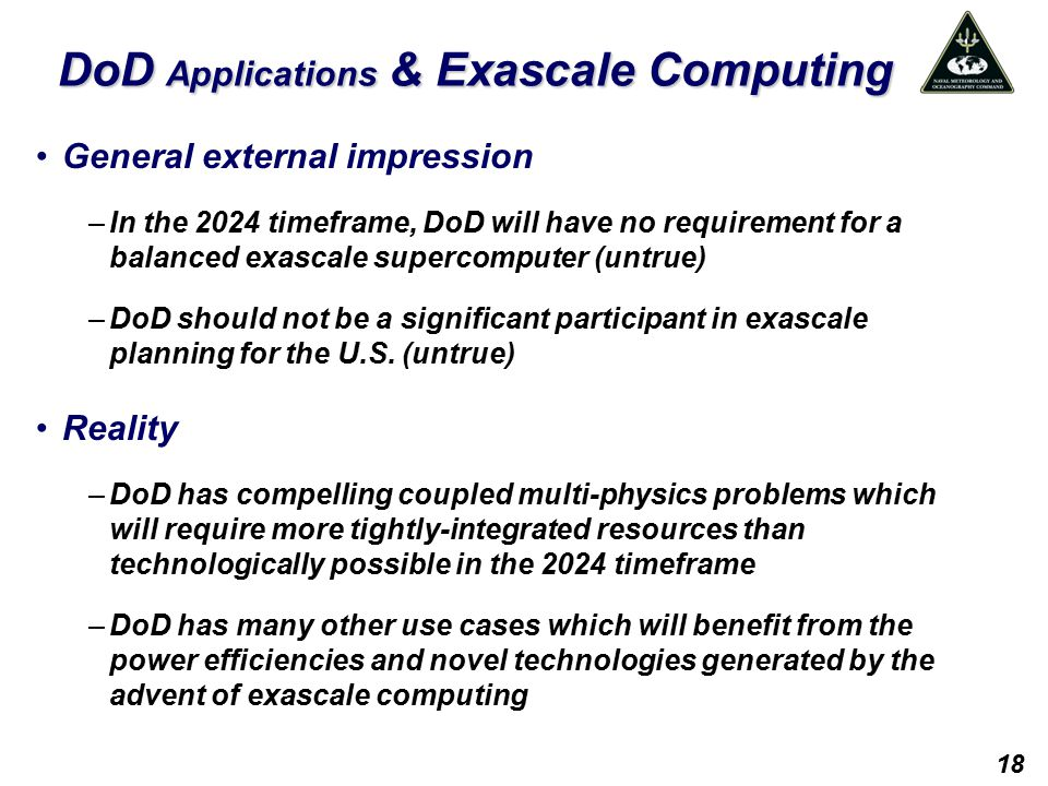 DoD Applications & Exascale Computing