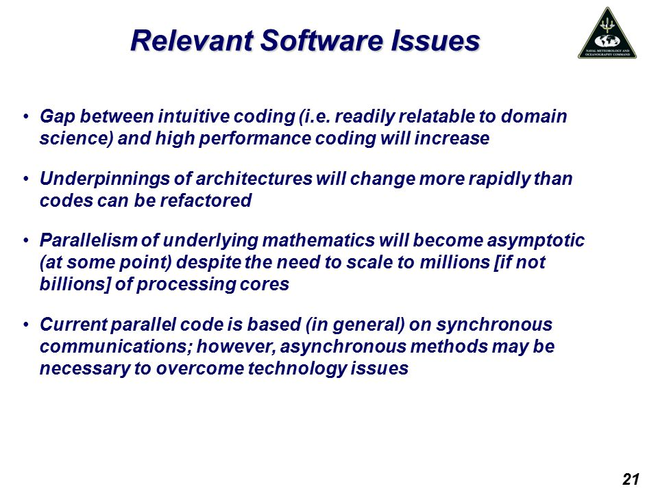 Relevant Software Issues