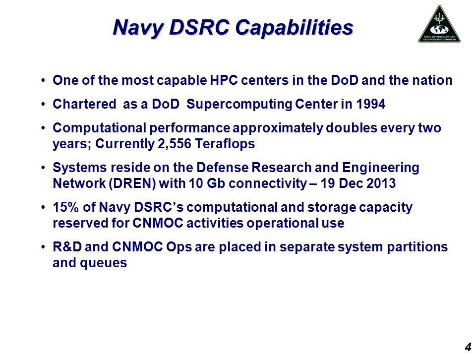 Navy DSRC Capabilities