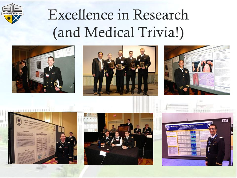 Excellence in Research (and Medical Trivia!)
