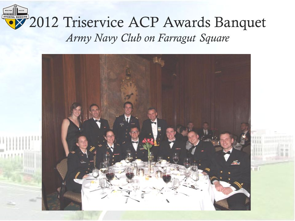2012 Triservice ACP Awards Banquet Army Navy Club on Farragut Square