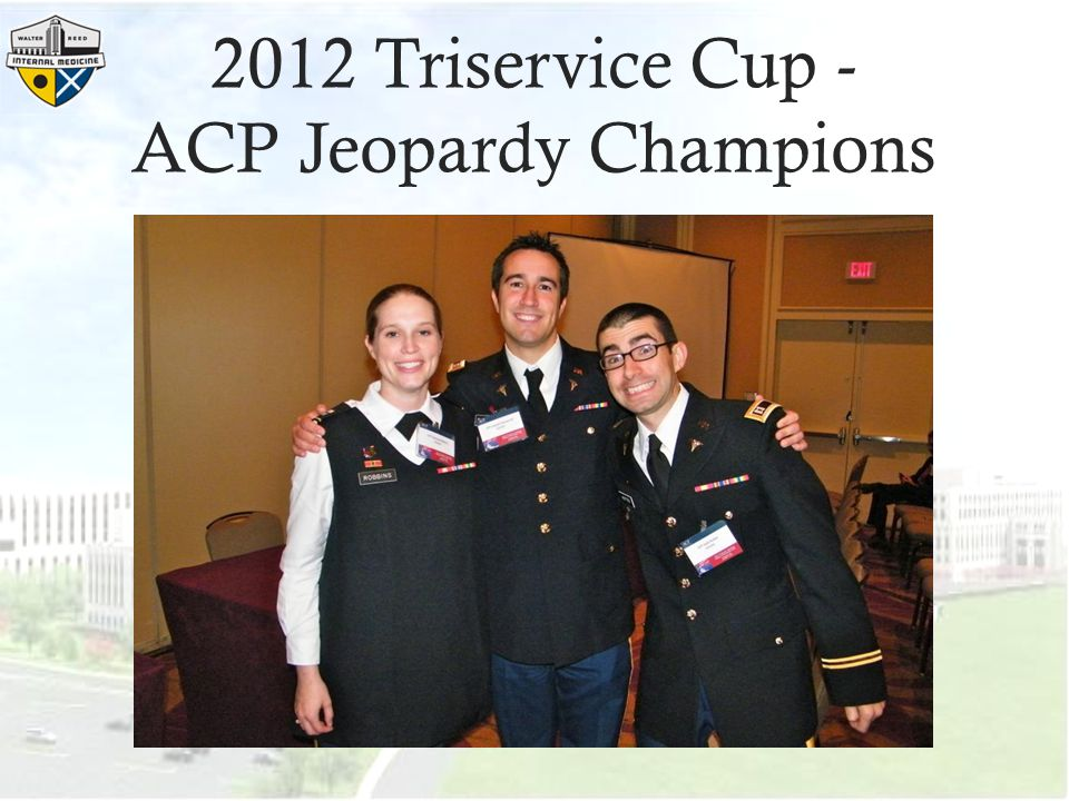 2012 Triservice Cup - ACP Jeopardy Champions
