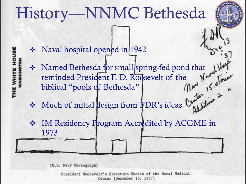 History—NNMC Bethesda