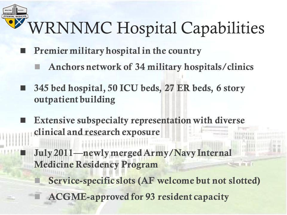 WRNNMC Hospital Capabilities