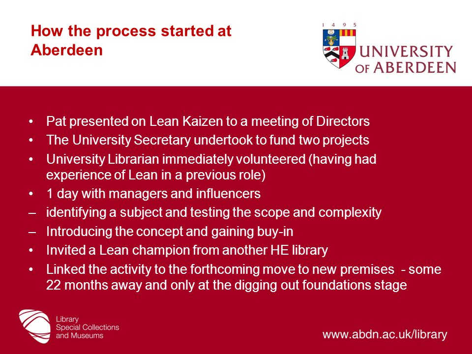 How the process started at Aberdeen
