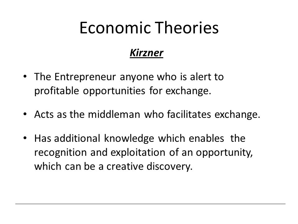 Economic Theories Kirzner