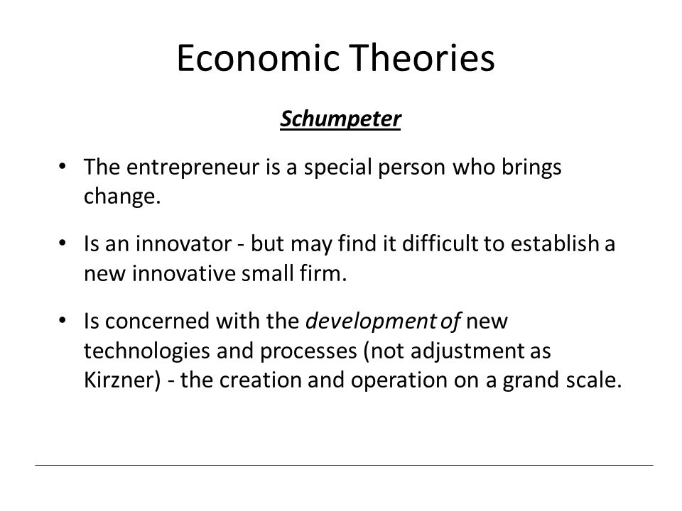 Economic Theories Schumpeter