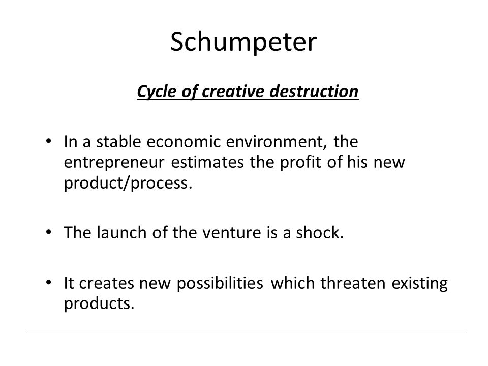 Cycle of creative destruction