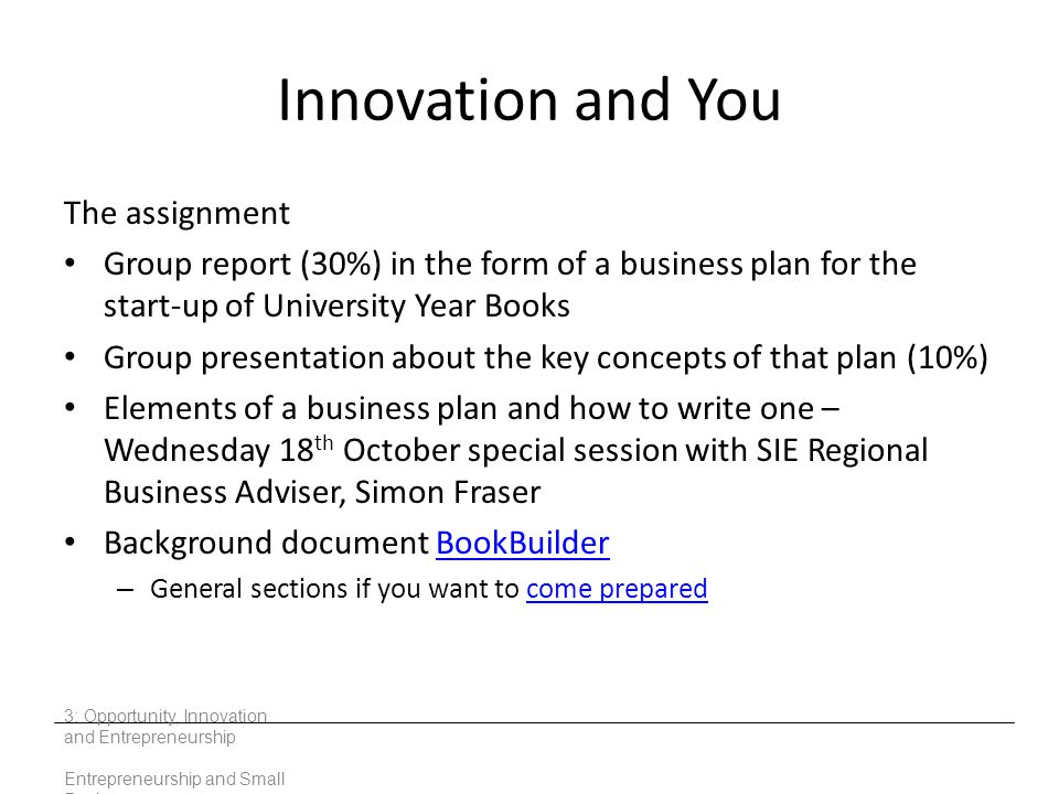Innovation and You The assignment