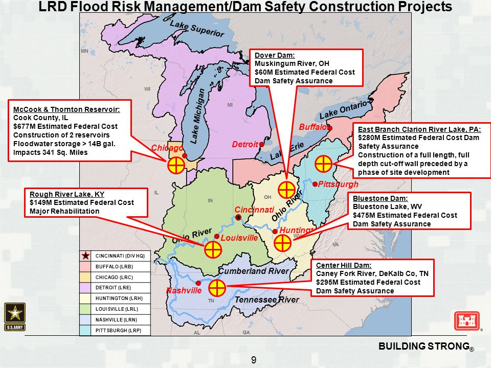LRD Flood Risk Management/Dam Safety Construction Projects