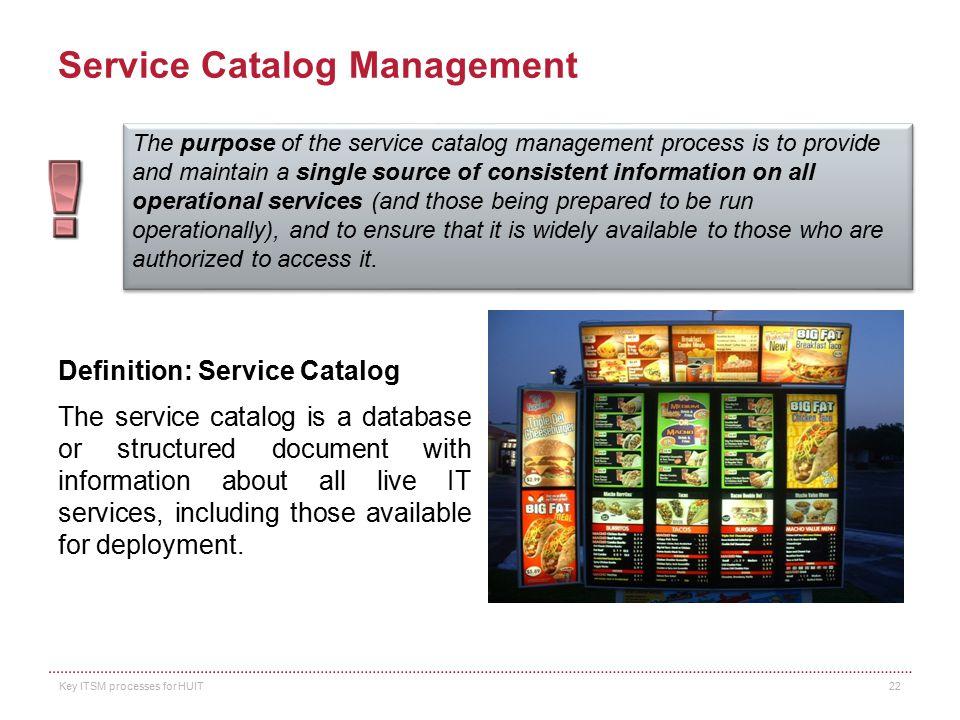 Service Catalog Management