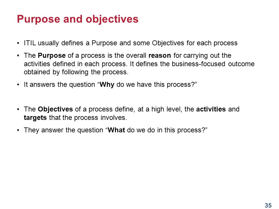 Introduction to itsm and itil ppt download purpose and objectives malvernweather Images