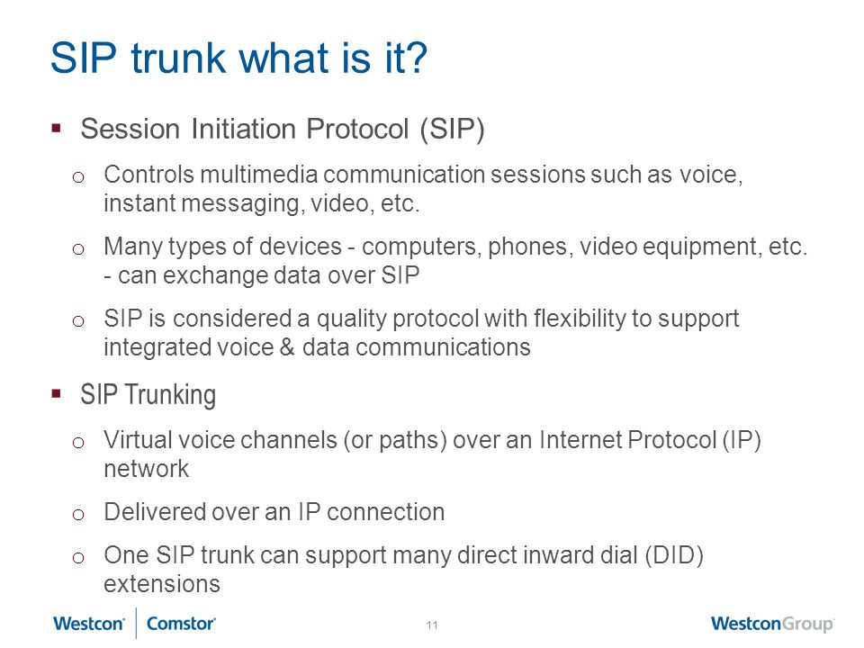 SIP trunk what is it Session Initiation Protocol (SIP) SIP Trunking