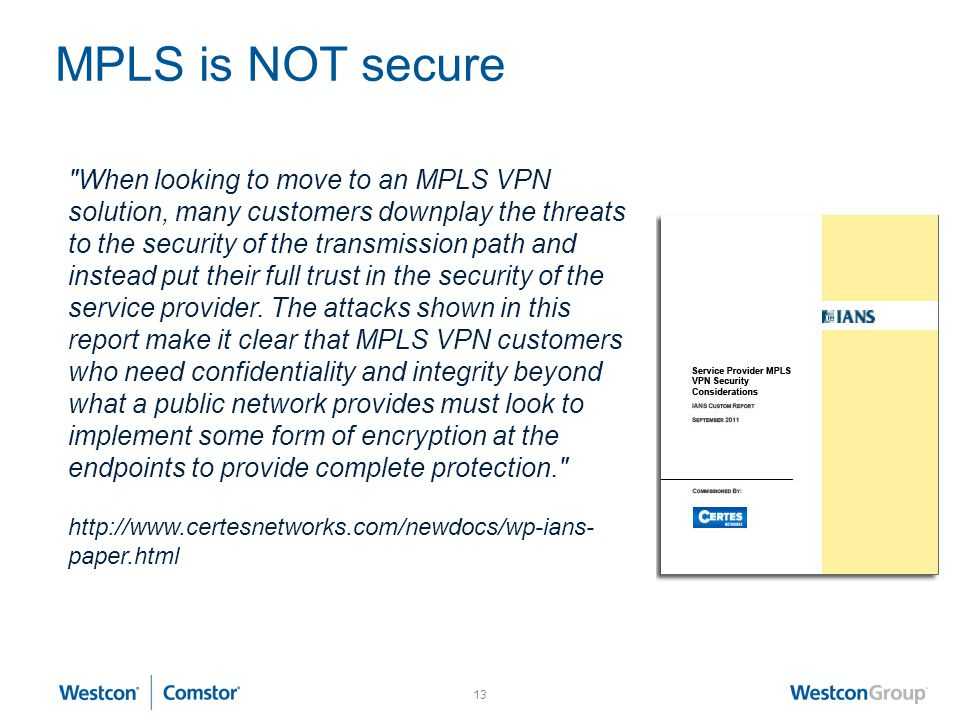 MPLS is NOT secure
