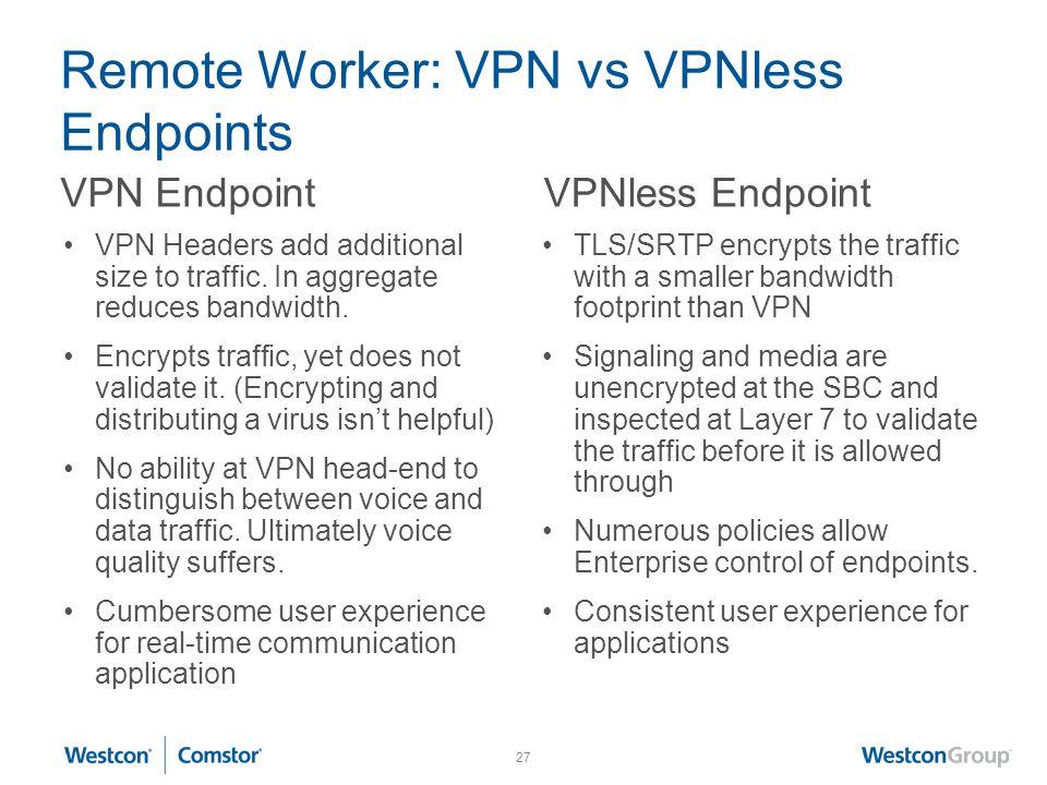 Remote Worker: VPN vs VPNless Endpoints