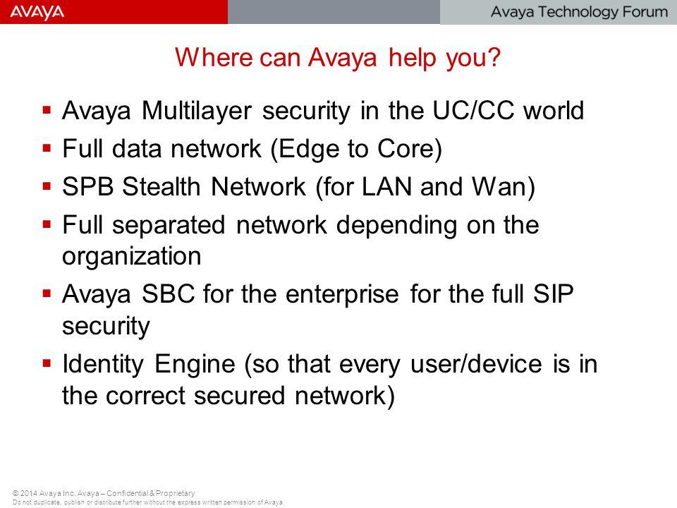 Where can Avaya help you