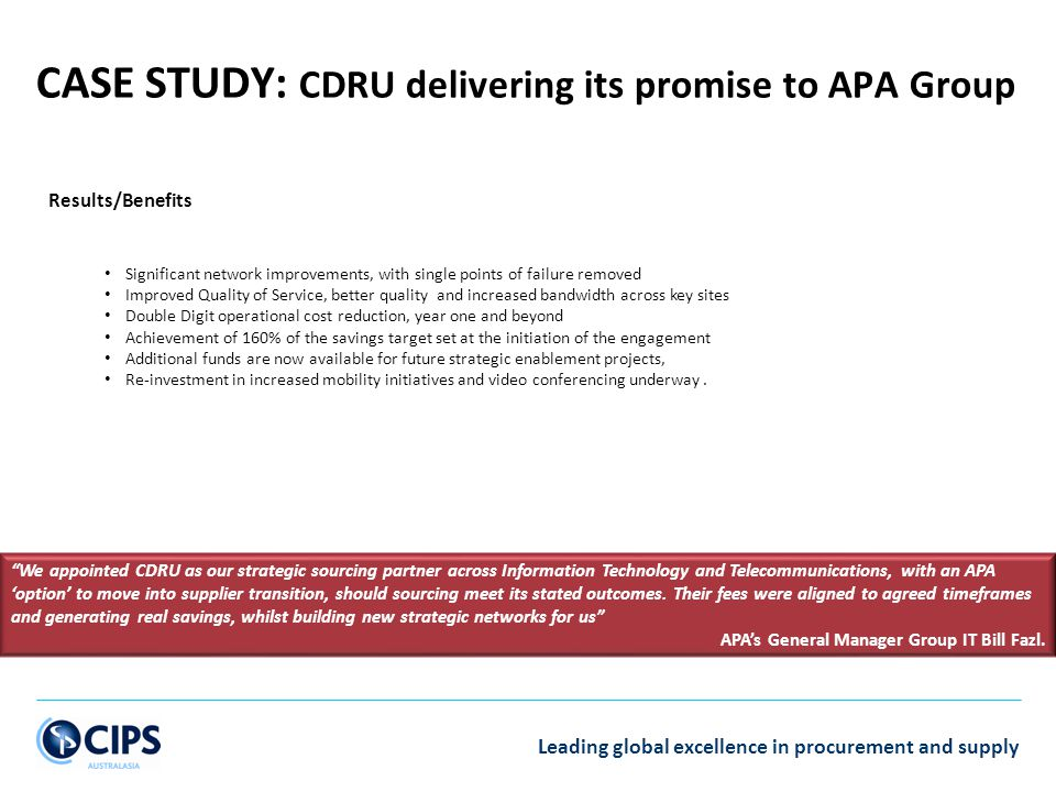 CASE STUDY: CDRU delivering its promise to APA Group