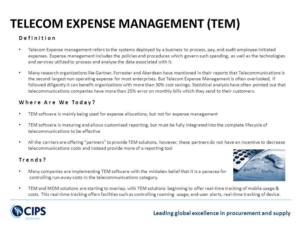 TELECOM EXPENSE MANAGEMENT (TEM)