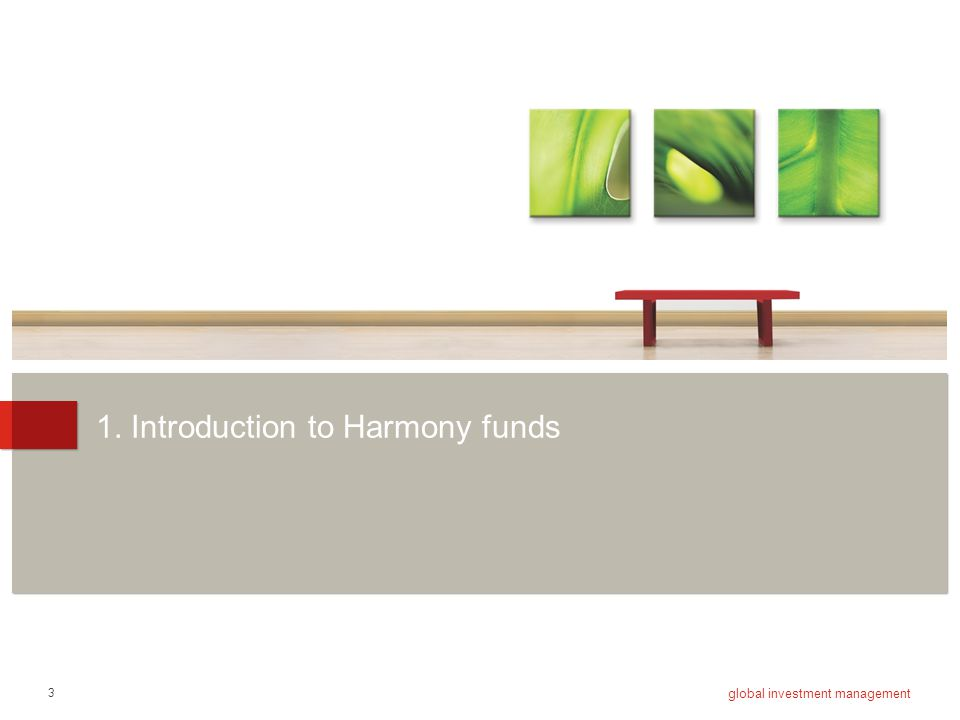 1. Introduction to Harmony funds