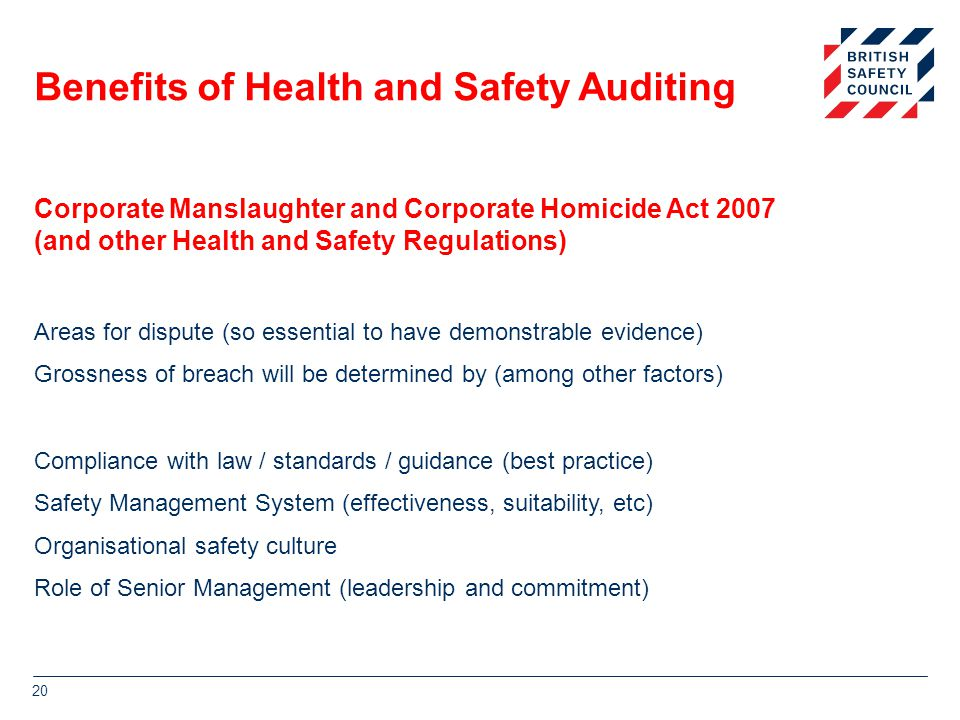 Benefits of Health and Safety Auditing