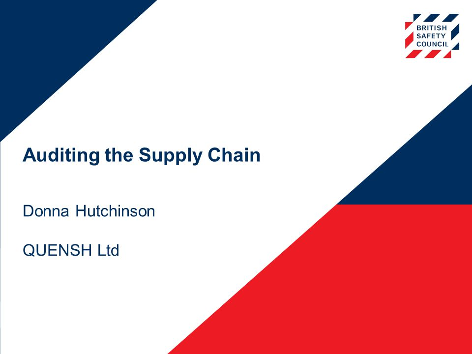 Auditing the Supply Chain