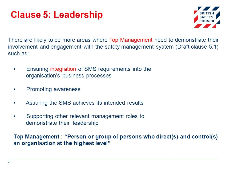 Clause 5: Leadership