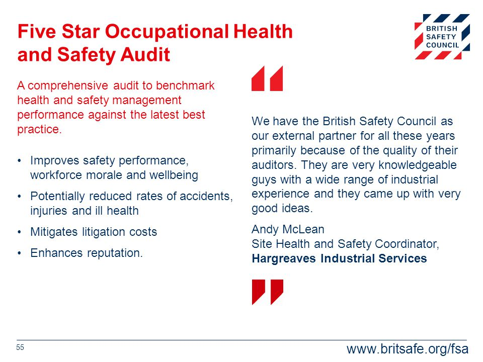 Five Star Occupational Health and Safety Audit