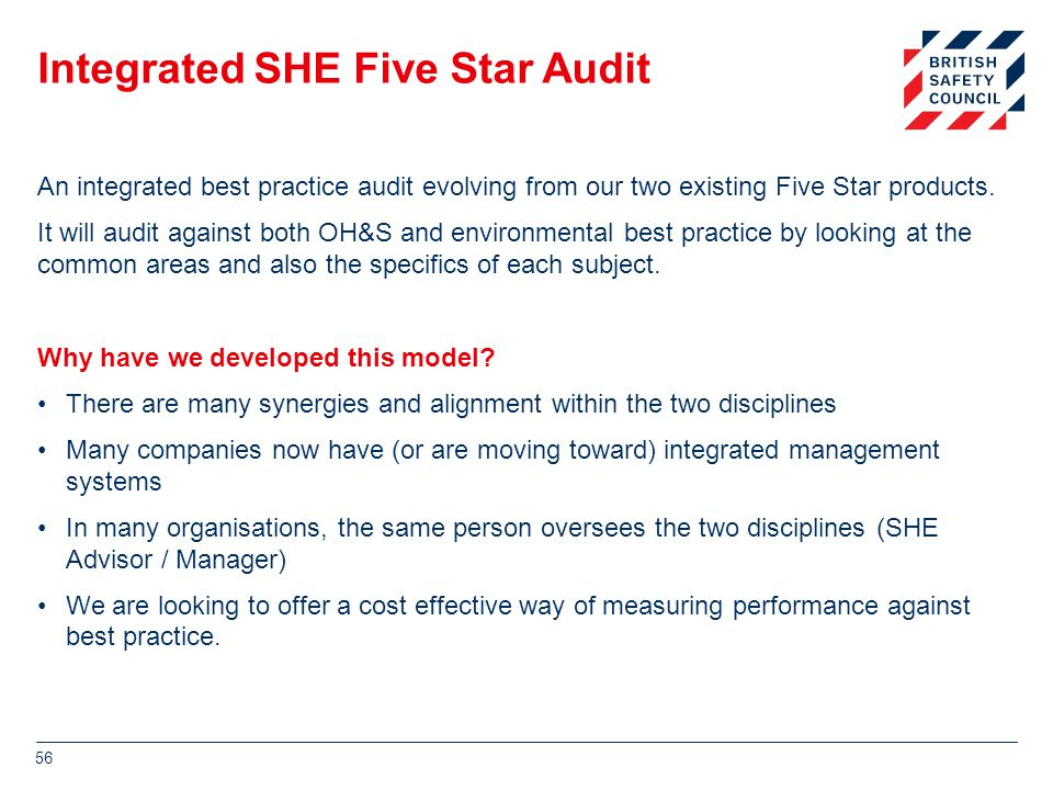 Integrated SHE Five Star Audit