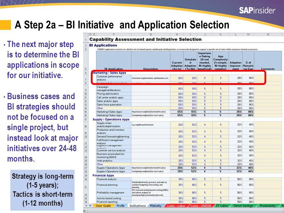 A Step 2b – BI Source System Selection