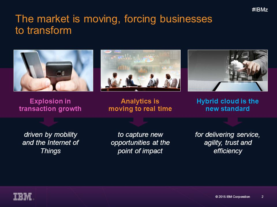 The market is moving, forcing businesses to transform