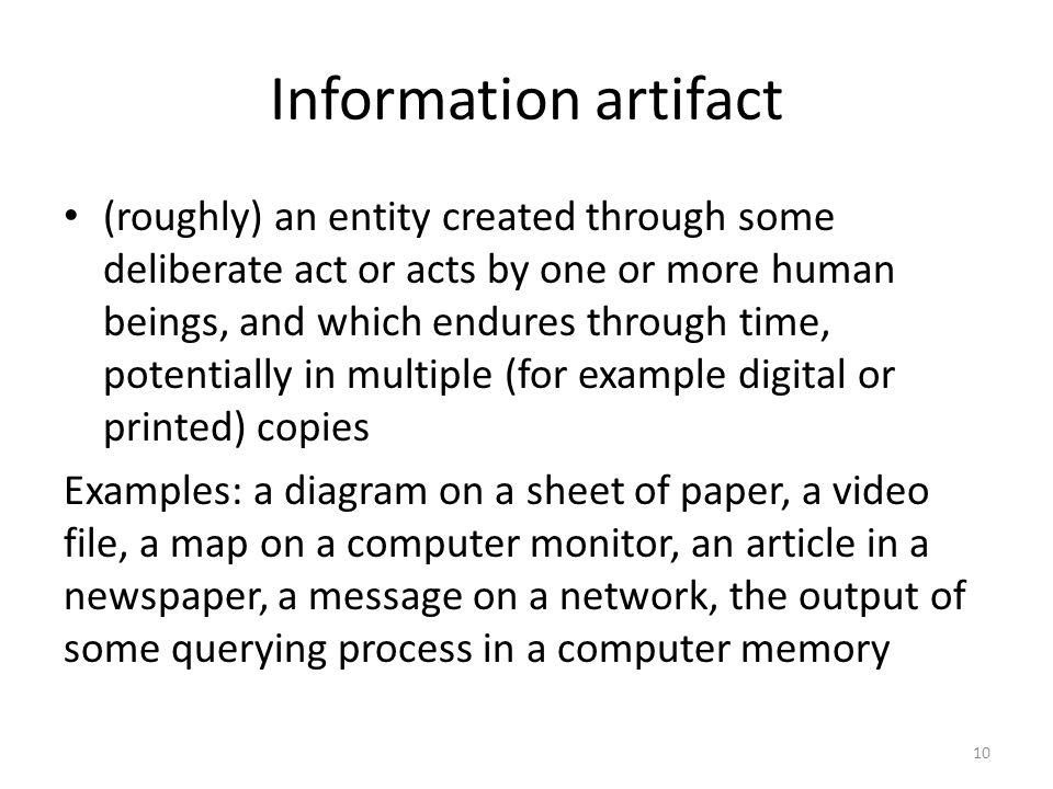 Information artifact