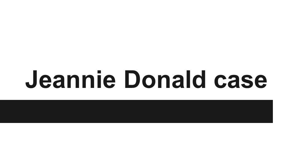 Jeannie Donald case